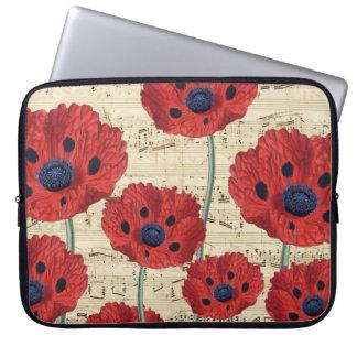 red poppy dream laptop sleeve