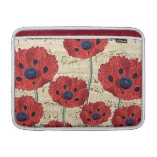 red poppy dream MacBook sleeve