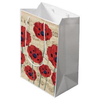 red poppy dream medium gift bag