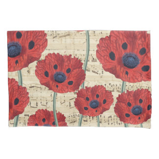 red poppy dream pillowcase