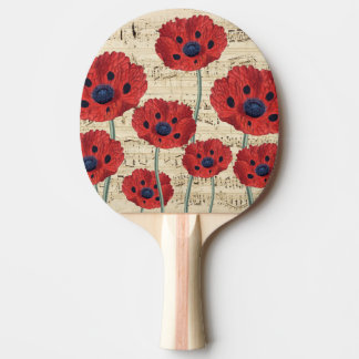 red poppy dream ping pong paddle