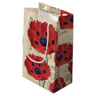 red poppy dream small gift bag