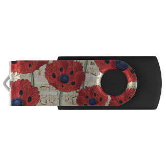 red poppy dream USB flash drive