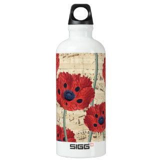 red poppy dream water bottle