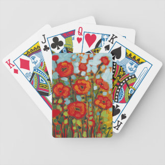 Red Poppy Field Playing Cards