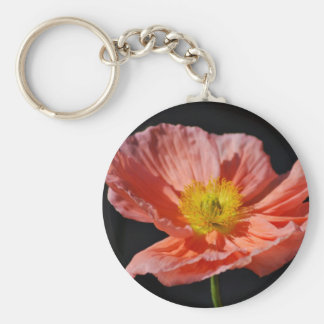 Red poppy flower and meaning key chains