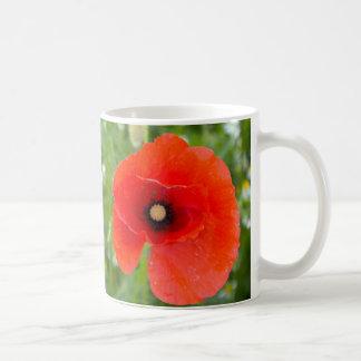 Red Poppy Flower in a field Coffee Mug