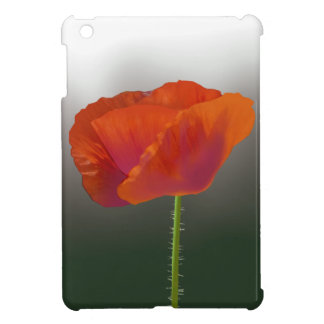 Red poppy Flower Case For The iPad Mini