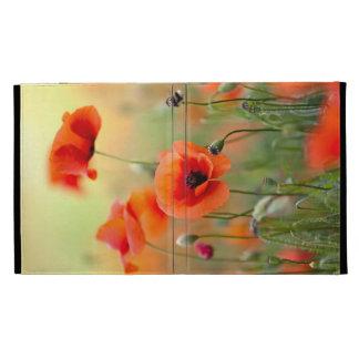 Red Poppy Flowers iPad Folio Case