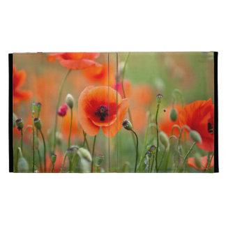 Red Poppy Flowers iPad Folio Covers