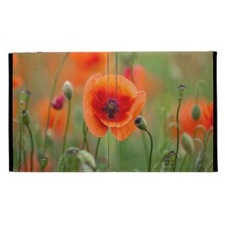 Red Poppy Flowers iPad Case
