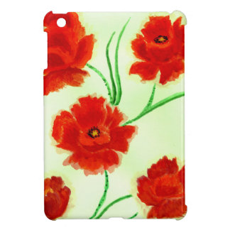 Red Poppy Flowers Case For The iPad Mini