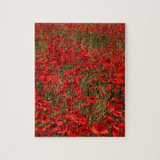 Red Poppy Flowers Jigsaw Puzzle