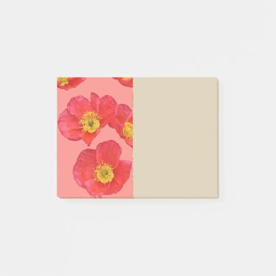 Red Poppy Flowers Post-it® Notes