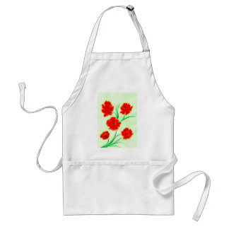 Red Poppy Flowers Standard Apron