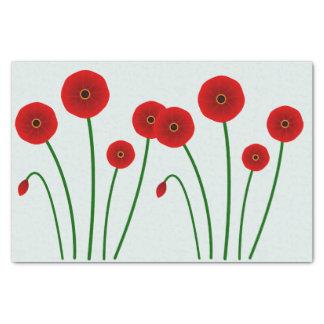 Red Poppy Flowers - Tissue Paper