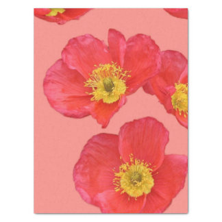 Red Poppy Flowers Tissue Paper