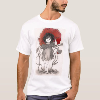 Red Poppy Girl T Shirt
