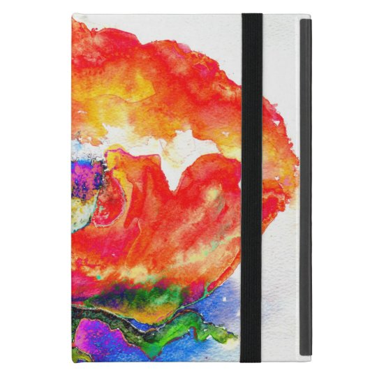 Red Poppy iPad Mini Cover