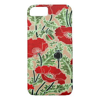 Red Poppy iPhone 7 Case