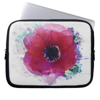 Red Poppy Neoprene Laptop Sleeve 10 inch #1