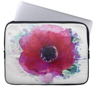 Red Poppy Neoprene Laptop Sleeve 13 inch #1