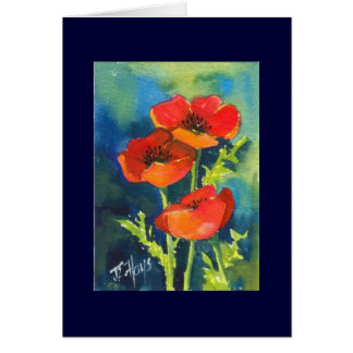 RED POPPY Note Card