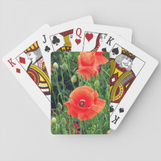 Red Poppy Playing Cards