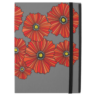 "Red poppy print floral iPad Pro 12.9"" cover"
