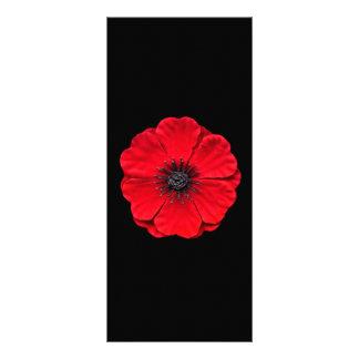 red poppy rack card