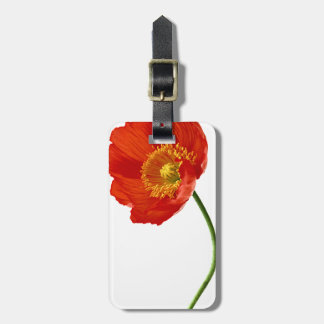 Red Poppy Simplicity Luggage Tag
