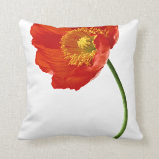 Red Poppy Simplicity Throw Pillow