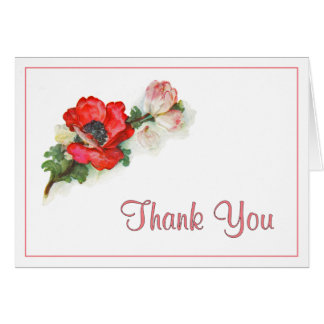 Red Poppy Thank You Card