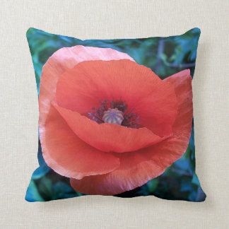 Red Poppy. Throw Pillow