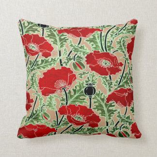 Red Poppy ~ Throw Pillow / Cushion