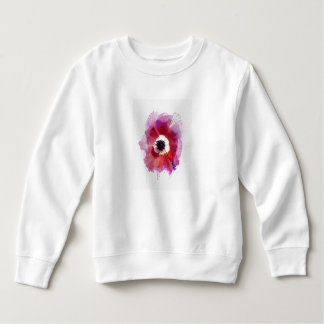 Red Poppy Toddler Fleece Girl Sweatshirt #2