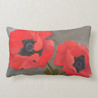 Red Poppy Toss Pillow