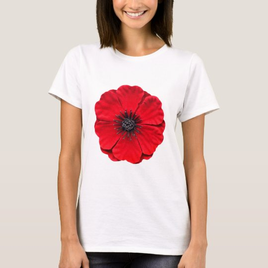 red poppy - white T-Shirt