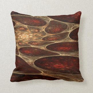 Red Porous Fractal Design Throw Pillow