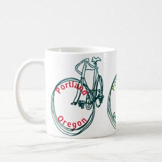 Red Portland Bicycle Coffee Mug