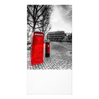 Red Post Box Phone box London Customized Photo Card