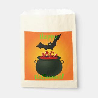 Red Potion and Bat Orange Favour Bag