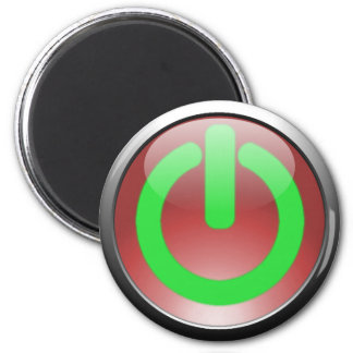 Red Power Button Magnet