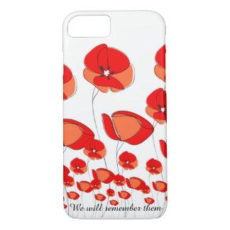 Red Power Poppy Flower Phone Case