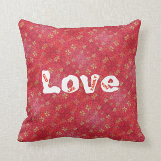 "red printed pilow from collection ""Poppy'' Throw Pillow"