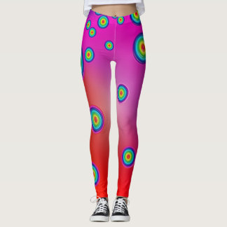 Red Psychedelic Leggings