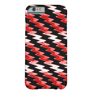 Red Psychedelic Lightning Pattern Barely There iPhone 6 Case