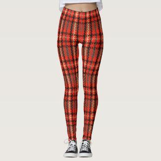 Red Punk Plaid Tartan Pattern Leggings
