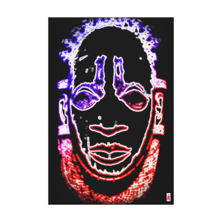 "red puppy ""Benin Pendant Mask"" Canvas Print"