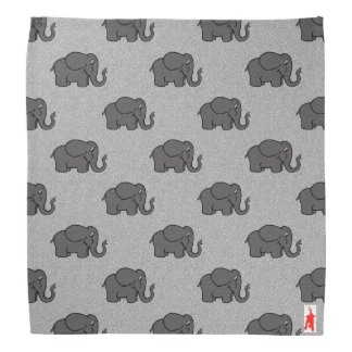 "red puppy ""elephants on parade"" bandana"